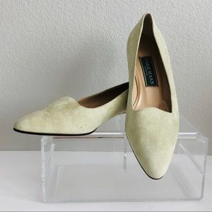 Cole Haan Flats Shoes Suede Lime Green Low Heel